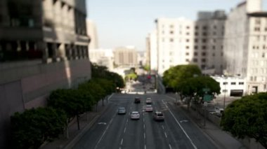 Downtown Los Angeles Freeway Tilt Shift — Stock Video