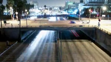 Downtown Los Angeles Traffic, Time Lapse - Zoom — Stock Video