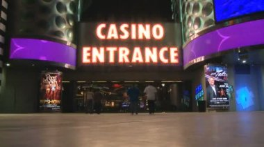Casino in Las Vegas - Time Lapse — Stock Video
