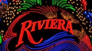 Riviera Neon Signs in Las Vegas — Stock Video