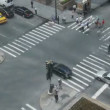 NYC Crosswalk from Above - Time Lapse — Stock Video