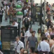 Time Lapse of Crowd at Wall Street — Stock Video