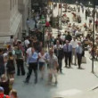 Crowds on Wall Street NYC - Time Lapse - Stock Photo