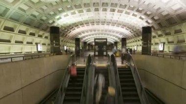 Washington dc metro spoor, metro — Stockvideo