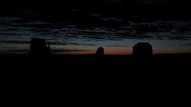 Monument Valley Clouds Time Lapse — Stock Video