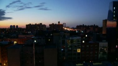 Sunrise over Manhattan Skyline — Stock Video