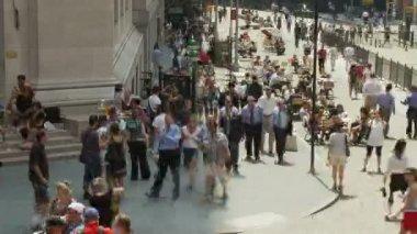 Folle a wall street nyc - lasso di tempo — Video Stock