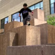 Parkour Athlete — Stock Video