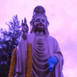 Purple Buddha  Quan Yin - Time Lapse - Stock Photo