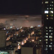 San Francisco Fog at Night - Time Lapse — Stock Video