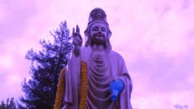 Purple Buddha Quan Yin - Time Lapse — Stock Video