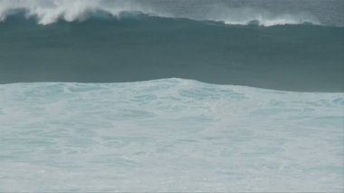 Raging Sea - Big Waves in Slow Motion — Stock Video