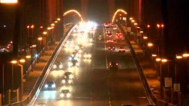 Golden Gate Bridge at night - Time Lapse — Stock Video