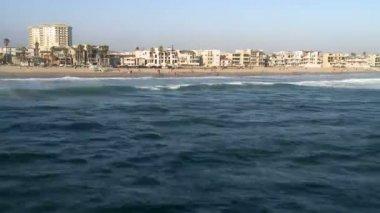 Time Lapse of Santa Monica Beach — Stock Video