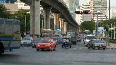 Traffic in Bangkok Thailand — Vídeo de stock