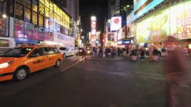 Nyc keer vierkante time-lapse — Stockvideo