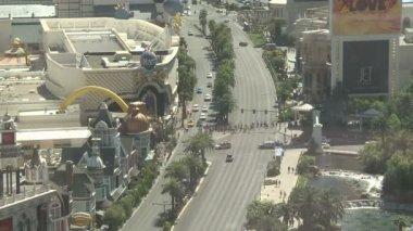 Las Vegas Strip Traffic- Time Lapse — Stock Video