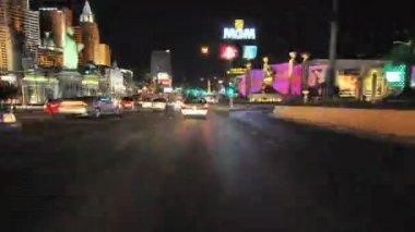 Driving down Las Vegas Blvd — Stock Video
