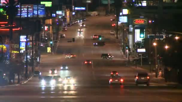 Lapso de tiempo del tráfico de la autopista en los angeles california — Vídeo de stock