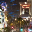 Zoom out of Las Vegas Strip - Time Lapse — Stock Video