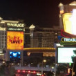 Zoom out of Las Vegas Strip - Time Lapse - Stock Photo