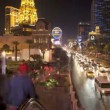 Stock Video: Time Lapse of Las Vegas Strip Casinos at Night