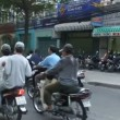 Busy Street Traffic in Vietnam Asia — Stock Video