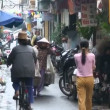 Busy Alley in Hanoi Vietnam Asia — Stock Video