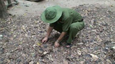 Vietnam Cho Chi Tunnels — Stock Video