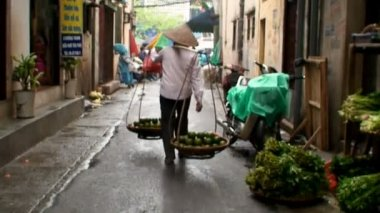 Street Vender In Vietnam — Stock Video
