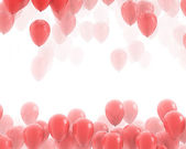 Red balloons backgrounds — Stock Photo