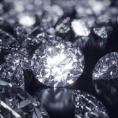 Shiny Diamonds background — Stock Photo