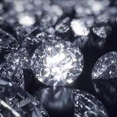 Shiny Diamonds background — Stock Photo