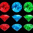 Set of color diamonds — Stock Photo #14099750