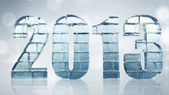 New Year - ice bricks word with clipping path — Stock Photo