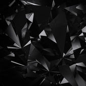 Black diamond facet background — ストック写真