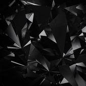 Black diamond facet background — Stock Photo