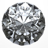 Round diamond with clipping path — Stock Photo