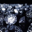 Stock Photo: Luxury 3D diamonds render on black backgorund
