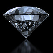 Shiny diamond with clipping path — Stock Photo