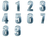 Iced numbers isolated with clipping path — Stock Photo