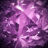 豪华紫色水晶多面背景 — 图库照片