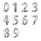 Metal numbers isolated — Stock Photo