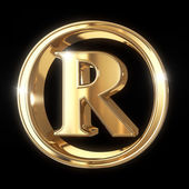 Golden 3D Trademark symbol — Stock Photo