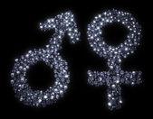 Male and female symbol — Stock Photo