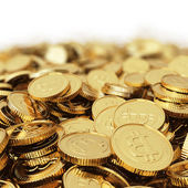 Golden bitcoins — Stock Photo
