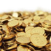 Golden bitcoins — Stock Photo