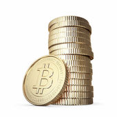 Golden bitcoins — Stockfoto