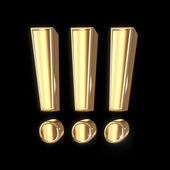 Golden symbol with clipping path — Stock Photo