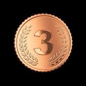 3 d のメダル — ストック写真